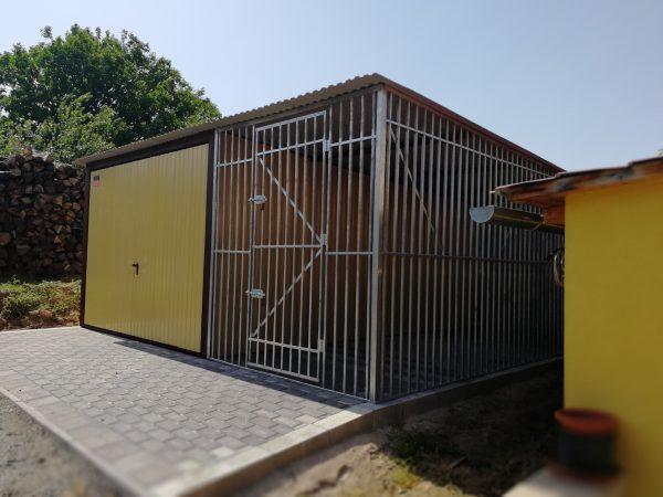 Mobilgarázs 3x5 + 2x5 kutyakennel